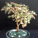 Flitterfa almákkal, Dekoráció, Otthon, lakberendezés, Dísz, 15 cm magas, fénylő lombozatú fácska almákkal, a természetes és a mesterséges fény is jól áll neki. ..., Meska