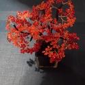 Gyöngyfa vörösben II, Dekoráció, Otthon, lakberendezés, Dísz, A napokban olvastam a tűzvirágfáról, így muszáj volt készíteni valami vöröset...edénnyel ..., Meska