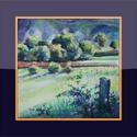 Ragyogó reggel, Dekoráció, Képzőművészet, Kép, Festmény, 25x25 cm-es, keret nélküli akvarell. Tündöklő tavaszi reggel, éles fények...( A keret virtuá..., Meska