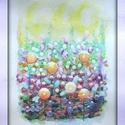 Gyermekkor, Dekoráció, Képzőművészet, Kép, Festmény, Festészet, Gömbök, mint annak idején Papánál a kertben. Napsütés, színek, fények, illatok...gyermekkor. Fél A/..., Meska