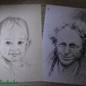 Portré, Képzőművészet, Grafika, Rajz, Portrét rajzolok A/4-es méretben, fotó alapján. (Ha nagy, vagy egyedi méretben szeretnél portr..., Meska