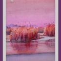 Rózsaszín, Dekoráció, Képzőművészet, Kép, Festmény, Festészet, Fél A/4-es méretű akvarell. A keret virtuális., Meska