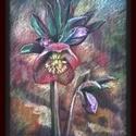 Hunyor, Képzőművészet, Festmény, A/4-es méretű, keret nélküli olajpasztell kép. Egyik kedvenc virágom: szép erőteljes, ugyanakkor oly..., Meska