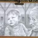 Portré, Képzőművészet, Elkészült., Meska