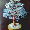 Égkék gyöngyfa, Dekoráció, Otthon, lakberendezés, Dísz, 21 cm magas. :-), Meska