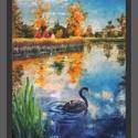 A csatornánál, Képzőművészet, Festmény, Olajfestmény, A/4-es méretű, keret nélküli olajfestmény, vásznon., Meska