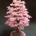 Rózsaszín gyöngyfa, rendelhető., Dekoráció, Képzőművészet, Otthon, lakberendezés, Dísz, 22 cm magas, szintén kb. 10000 gyöngy van a lombban. :-), Meska