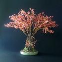 Japánbirs gyöngyfa, Dekoráció, Képzőművészet, Otthon, lakberendezés, Dísz, 18 cm magas. A kertben álló bokor ihlette..., Meska
