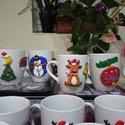 Remek ajándék Mikulásra, illetve Karácsonyra kicsiknek és nagyoknak , Mindenmás, Konyhafelszerelés, Bögre, csésze, Hűtőmágnes, Gyurma, Süthető gyurmával dekorált Mikulásra és Karácsonyra, kicsiknek és nagyoknak egyaránt ajándékozhatò ..., Meska