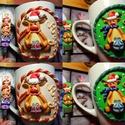 Remek ajándék Mikulásra, illetve Karácsonyra kicsiknek és nagyoknak , Mindenmás, Konyhafelszerelés, Bögre, csésze, Hűtőmágnes, Gyurma, Süthető gyurmával dekorált,  kicsiknek és nagyoknak egyaránt ajándékozhatò egyedi, névre szóló bögr..., Meska