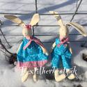 Húsvéti nyuszi dekoráció, Húsvéti díszek, Húsvéti dekorációnak készültek ezek a 40 cm magas nyuszik. Párban és darabra is megvásárolhatóak. A ..., Meska