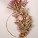 Ananász formájú dísz falra - ajtóra, Otthon & Lakás, Dekoráció, Ajtódísz & Kopogtató, Virágkötés, Saját kézzel készített egyedi szárazvirág kopogtató minőségi alapanyagokból falra, ajtóra akaszthat..., Meska