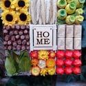 Őszi egyveleg, Dekoráció, Otthon, lakberendezés, Dísz, Ajtódísz, kopogtató, Virágkötés, Átmérője kb harminc cm.Őszi termésekkel és motívumokkal díszítettem., Meska