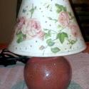 Asztali lámpa , Dekoráció, Baba-mama-gyerek, Mindenmás, Gyerekszoba, Bármilyen mintával elkészítem 2 nap alatt. A lámpa mérete:18x23 cm A lámpa alja porcelán a t..., Meska