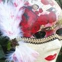 Velencei maszk, Dekoráció, Mindenmás, Ünnepi dekoráció, Itt a farsang és a karnevál ideje. A maszk különbféle technikák ötvözete. Gyönyörű dísze..., Meska