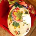 Húsvéti tojás herendi mintával, Férfiaknak, Mindenmás, Otthon, lakberendezés, Húsvéti apróságok, Herendi  húsvéti hangulat :) Polisztirol alapra festett repedezett felületű különleges húsvé..., Meska