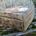 Különleges óra doboz , Dekoráció, Mindenmás, Otthon, lakberendezés, Egy igazi különleges fa dobozka órák stílusos tárolására 15x15x6 cm es mérettel.A doboz ele..., Meska