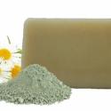 Zöld agyagos kézműves szappan, Szépségápolás, Szappan, tisztálkodószer, Natúrszappan, Növényi alapanyagú szappan, Szappankészítés, A gyulladt, pattanásos bőr kíméletes, de egyben hatékony ápolást igényel.   Az extra szűz olívaolaj..., Meska