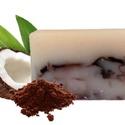 Kókuszos-csokis kézműves szappan, Szépségápolás, Férfiaknak, Szappan, tisztálkodószer, Natúrszappan, Szappankészítés, A kókuszolaj egy igazi kincs! Tudtad róla, hogy gomba-, baktérium- és vírusölő hatású?  Magas antio..., Meska