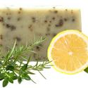 Kakukkfüves kézműves szappan, Szépségápolás, Szappan, tisztálkodószer, Natúrszappan, Növényi alapanyagú szappan, Szappankészítés, Elsősorban sampon szappanként ajánlható.   Az extra szűz olívaolaj megőrzi a haj színét és fényesít..., Meska