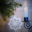 Horgolt csillag 3., Karácsonyi, adventi apróságok, Karácsonyfadísz, Karácsonyi dekoráció, A műhelyemben már készülnek a karácsonyi díszek. Ez a horgolt csillag kiváló dísze lehet az otthoni ..., Meska
