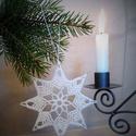 Horgolt csillag 1., Dekoráció, Karácsonyi, adventi apróságok, Karácsonyfadísz, A műhelyemben már készülnek a karácsonyi díszek. Ez a horgolt csillag kiváló dísze lehet az otthoni ..., Meska