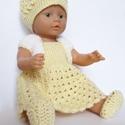 Horgolt sárga babaruha, Játék, Baba játék, Kedves ajándék lehet babázni szerető kislányok számára ez a szép horgolt ruhácska.  A baba mérete kb..., Meska