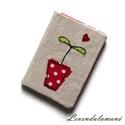 Piros cserepes növényke kártyarendező, Mindenmás, Kényelmes és praktikus módja a bankkártyák, személyi igazolványok és egyéb kártyák sorba rendezéséhe..., Meska