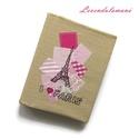 Pink Paris füzetmappa és tolltartó egyben, Naptár, képeslap, album, Jegyzetfüzet, napló, Ez a kis füzet nagyon hasznos lehet iskolásoknak és felnőtteknek egyaránt. Három színes lappal jól e..., Meska