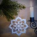 Horgolt csillag 2., Karácsonyi, adventi apróságok, Karácsonyfadísz, Karácsonyi dekoráció, A műhelyemben már készülnek a karácsonyi díszek. Ez a horgolt csillag kiváló dísze lehet az otthoni ..., Meska
