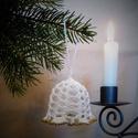 Horgolt csengő, Karácsonyi, adventi apróságok, Karácsonyfadísz, Karácsonyi dekoráció, A műhelyemben már készülnek a karácsonyi díszek. Ez a horgolt csengő kiváló dísze lehet az otthoni v..., Meska