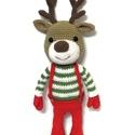 Karácsonyi rénszarvas - Rendelhető , Játék, Karácsonyi, adventi apróságok, Dekoráció, Karácsonyi dekoráció, Karácsonyi ruhába öltözött ez az aranyos rénszarvas, aki szeretettel várja, hogy meglepetés lehessen..., Meska