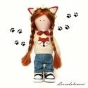 Rona a róka lány , Dekoráció, Játék, Dísz, Ez a baba a beöltözött babák sorozatom 2. darabja becses nevén Rona a róka lány. Rona rajong a rókák..., Meska