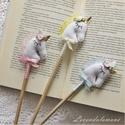 Unikornis ceruza szett-RENDELHETŐ, Mindenmás, Dekoráció, Játék, Ez a három kis egyszarvúval díszített ceruza, rajzolni/írni szerető gazdára vár. A ceruza végén lévő..., Meska