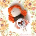 Roxi a rókalány, Dekoráció, Játék, Baba, babaház, Roxi egy vidám narancssárga hajú kislány, aki egy csendes erdei házikóban éldegél. Legjobb barátai a..., Meska