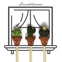Vidám kis kaktuszok ceruzaszett, Dekoráció, Mindenmás, Gyereknap, A ceruza végén lévő kis figurákat filcből készítettem, gépi és kézi hímzéssel. A ceruza HB-s és hegy..., Meska