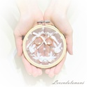 Fehér rózsakoszorú esküvői gyűrűpárna, Esküvő, Dekoráció, Gyűrűpárna, Nászajándék, Egy romantikus vintage sítusú esküvő elengedhetetlen kelléke egy szép és igényes gyűrűátadó párna, a..., Meska