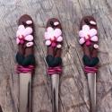 Orchideás evőeszköz szett, Baba-mama-gyerek, Ékszer, óra, Mindenmás, Dekoráció, Gyurma, Szeretnél valami egyedit ? Ajándékba vagy saját részre ? Itt egy tökéletes ötlet .  Orchideás evőes..., Meska