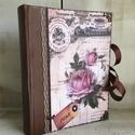 Vintage rózsás fotóalbum , Esküvő, Férfiaknak, Mindenmás, Otthon, lakberendezés, 200 darabos fotóalbum külseje új ruhát kapott , csodaszép pasztell színekbe öltözött . Vintage hangu..., Meska
