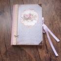 Rózsás napló a legféltettebb titkaidnak, Bútor, Férfiaknak, Konyhafelszerelés, Könyvkötés, Decoupage, transzfer és szalvétatechnika, Ez a napló nagyszerű választás bármilyen alkalomra ajándékként , de persze saját részre is :) Telje..., Meska