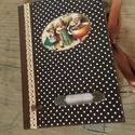 Vintage receptfüzet/napló, Bútor, Férfiaknak, Konyhafelszerelés, Receptfüzet, Könyvkötés, Decoupage, transzfer és szalvétatechnika, Ez a füzet nagyszerű választás bármilyen alkalomra ajándékként , de persze saját részre is :) Telje..., Meska