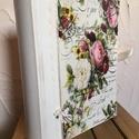 Vintage rózsás fotóalbum , Esküvő, Férfiaknak, Mindenmás, Otthon, lakberendezés, Decoupage, szalvétatechnika, 200 darabos fotóalbum külseje új ruhát kapott , csodaszép pasztell színekbe öltözött . Vintage hang..., Meska