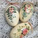 Csodás húsvéti tojások eredeti lúd tojásból , Húsvéti díszek, Baba-mama-gyerek, Otthon, lakberendezés, Decoupage, transzfer és szalvétatechnika, Légy egyedi , dekoráld otthonod , nem mindennapi ízlésesen díszített gyönyörű formájú  tojásokkal, ..., Meska