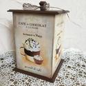 Kávé és csoki szerelmeseinek, Konyhafelszerelés, Otthon, lakberendezés, Fűszertartó, Ez a doboz bármely konyha csodás kiegészítője lehet:)  Méretéből adódóan sok lehetőség van a használ..., Meska