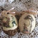 Csodás húsvéti lúdtojások, Húsvéti díszek, Baba-mama-gyerek, Otthon, lakberendezés, Decoupage, transzfer és szalvétatechnika, Légy egyedi , dekoráld otthonod , nem mindennapi ízlésesen díszített gyönyörű formájú  lúdtojásokka..., Meska