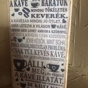 Kávés tábla, Dekoráció, Otthon, lakberendezés, Kép, Falikép, Ez a kávés tábla a kávé szerelmeseinek készült! 24x14 cm méretű, ajándékba, barátodnak házadba nagyo..., Meska