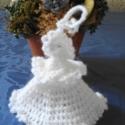 AKCIÓ! Hófehér horgolt angyalkák, Drága nagynéném horgolt 100 db 8 cm magas hófe...