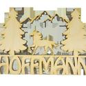 Családi névtábla 1, Dekoráció, Otthon, lakberendezés, Dísz, Falikép, Ajtódísz, kopogtató, Famegmunkálás, Egyedi felirattal kérhető.  Natúr, 4 mm vastag, rétegelt nyírfából készült fa ajándéktárgy, dekorác..., Meska