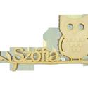 Baglyos névtábla, Baba-mama-gyerek, Dekoráció, Gyerekszoba, Baba falikép, Famegmunkálás, Egyedi felirattal kérhető.  Natúr, 4 mm vastag, rétegelt nyírfából készült fa ajándéktárgy, dekorác..., Meska
