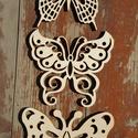 Pillangók, Dekoráció, Otthon, lakberendezés, Kerti dísz, Famegmunkálás, Egyedi tervezésű, lézervágott, díszes pillangók. Natúr, 4 mm vastag, rétegelt nyírfából készült fa ..., Meska